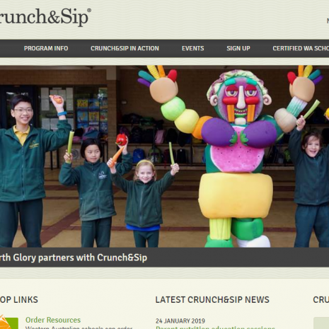 Crunch and Sip Website