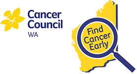 Cancer Council WA Find Cancer Early Logos